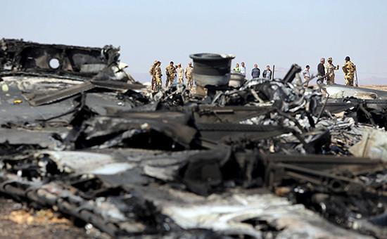 Обломки самолетаA321