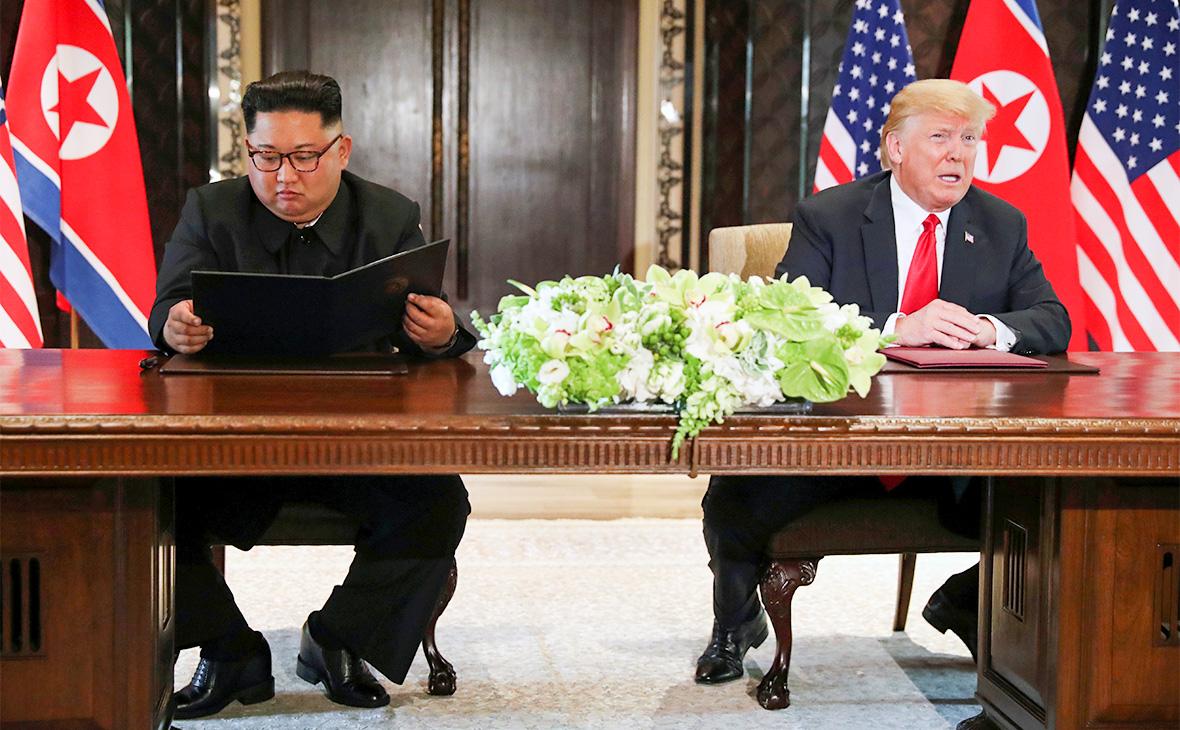 Ким Чен Ын иДональд Трамп