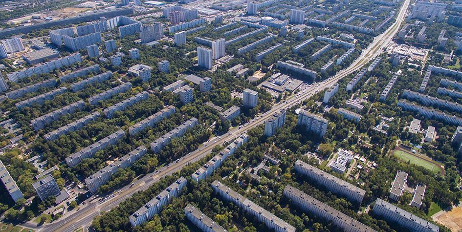 Вид на Чертановскую улицу и микрорайон Северное Чертаново
