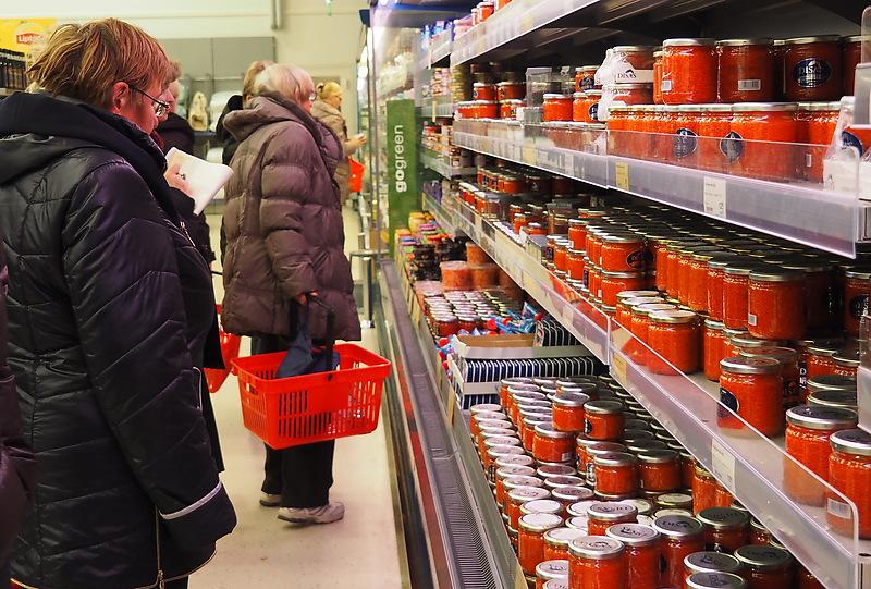 Лаппеенранта. Российские туристы в магазине