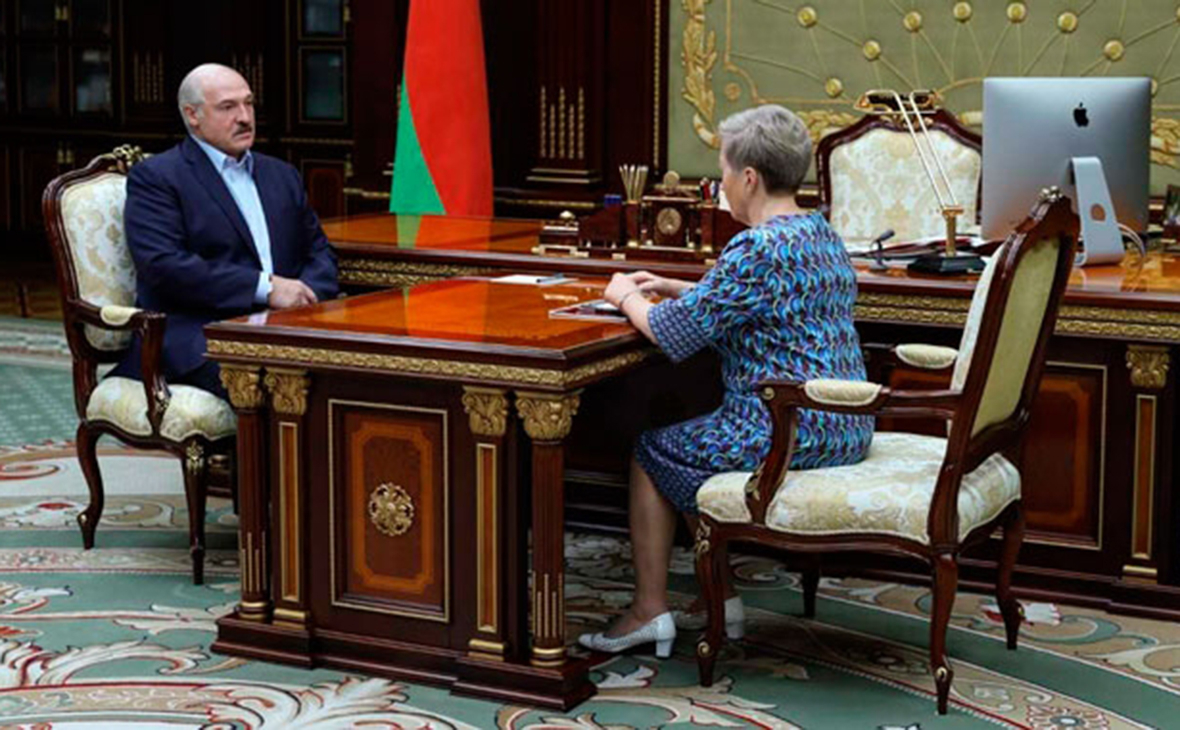 Александр Лукашенко и Надежда Ермакова