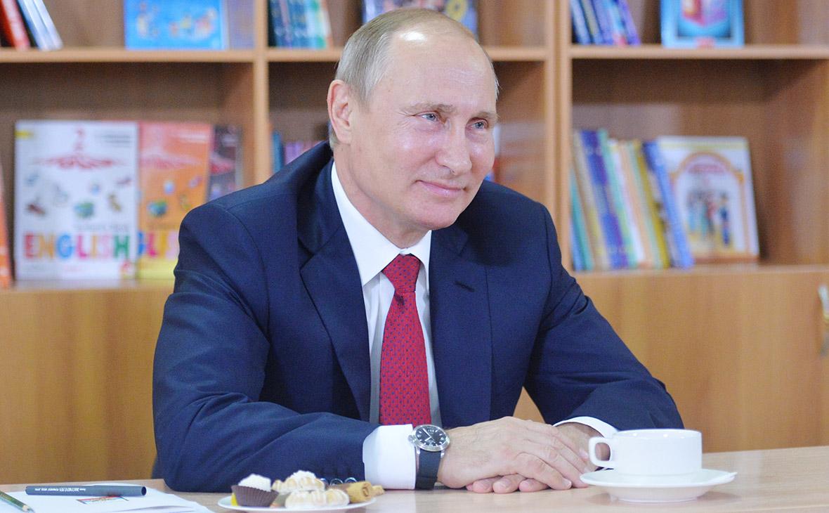 Владимир Путин во время встречи с учениками в День знаний. 2016 год