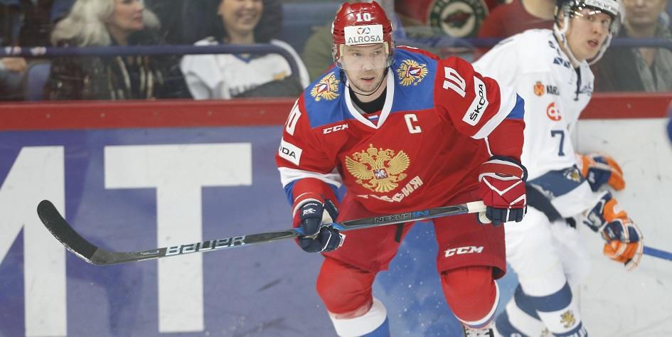 Сергей Мозякин в матче за сборную России