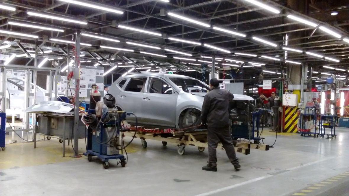Автомобильное производство на петербургской площадке Nissan
