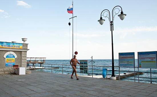 На территории санатория в Крыму