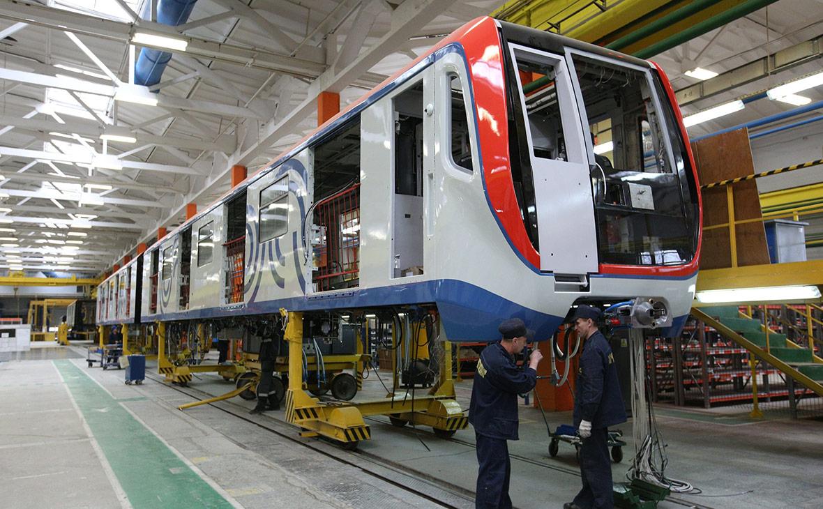 Производство вагонов «Москва» на заводе «Метровагонмаш»