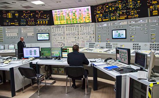 Блочный щит управления пятым блоком Нововоронежской атомной электростанции
