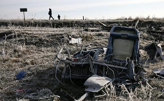 Обломки самолета Boeing авиакомпании Malaysia Airlines под Донецком. Архивное фото