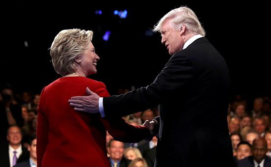 Кандидаты в президенты СШАХиллари Клинтон и Дональд Трамп