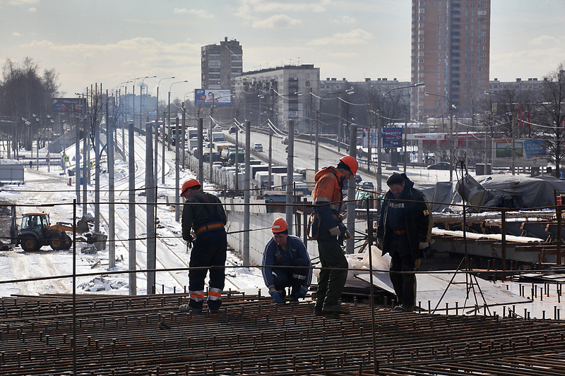 Строительство транспортной развязки на пересечении Пискаревского пр. и пр. Непокоренных