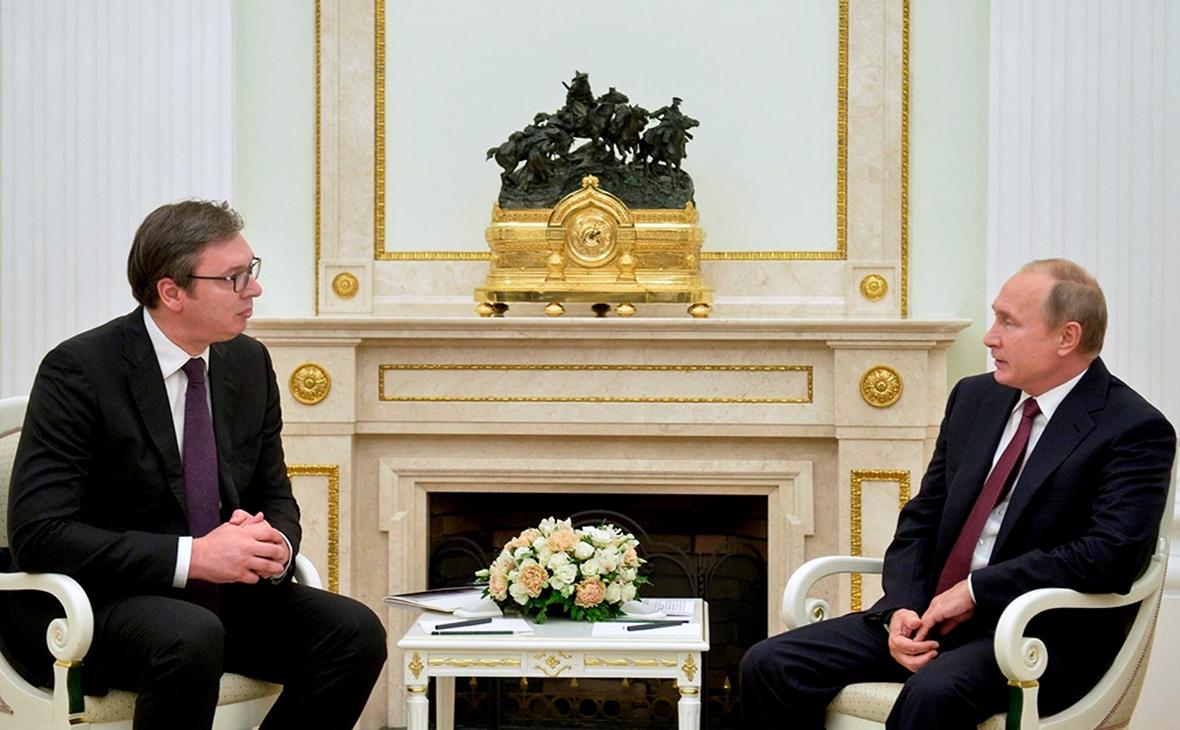Владимир Путин и АлександрВучич