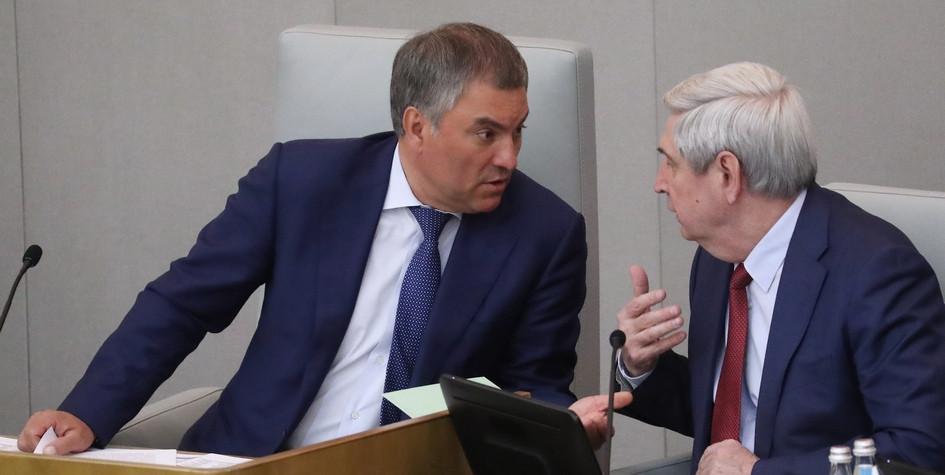 Спикер Госдумы Вячеслав Володин спервым вице-спикером Иваном Мельниковым