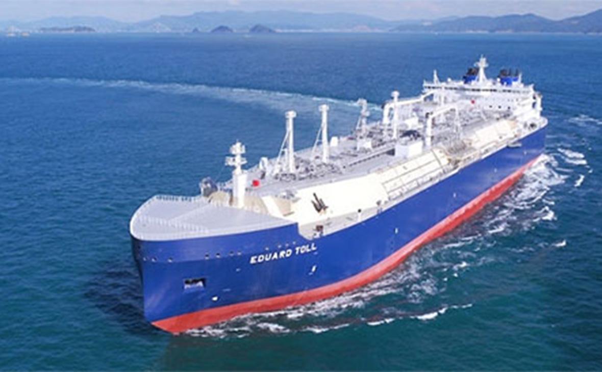 СПГ-танкер ледового класса Arc7«Эдуард Толль»