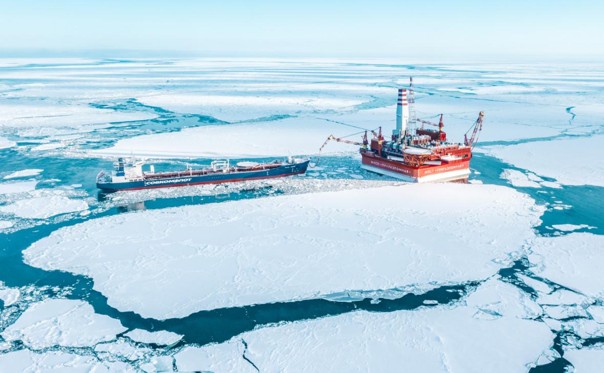 Морская ледостойкая стационарная платформа «Газпром нефти» на Приразломномместорождении