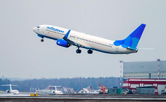 Лайнер авиакомпании «Победа» навзлете воВнуково