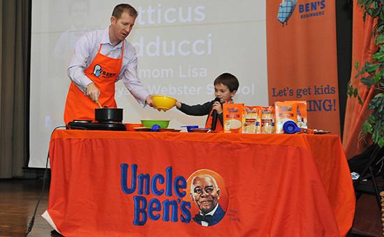 Во время конкурса брендаUncle Ben's, 9 декабря 2015 года