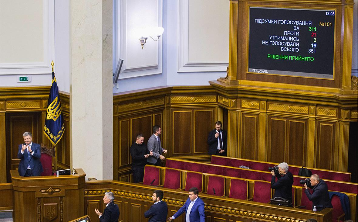 Рассмотрение законопроекта о курсе Украины на вступление в НАТО и ЕС