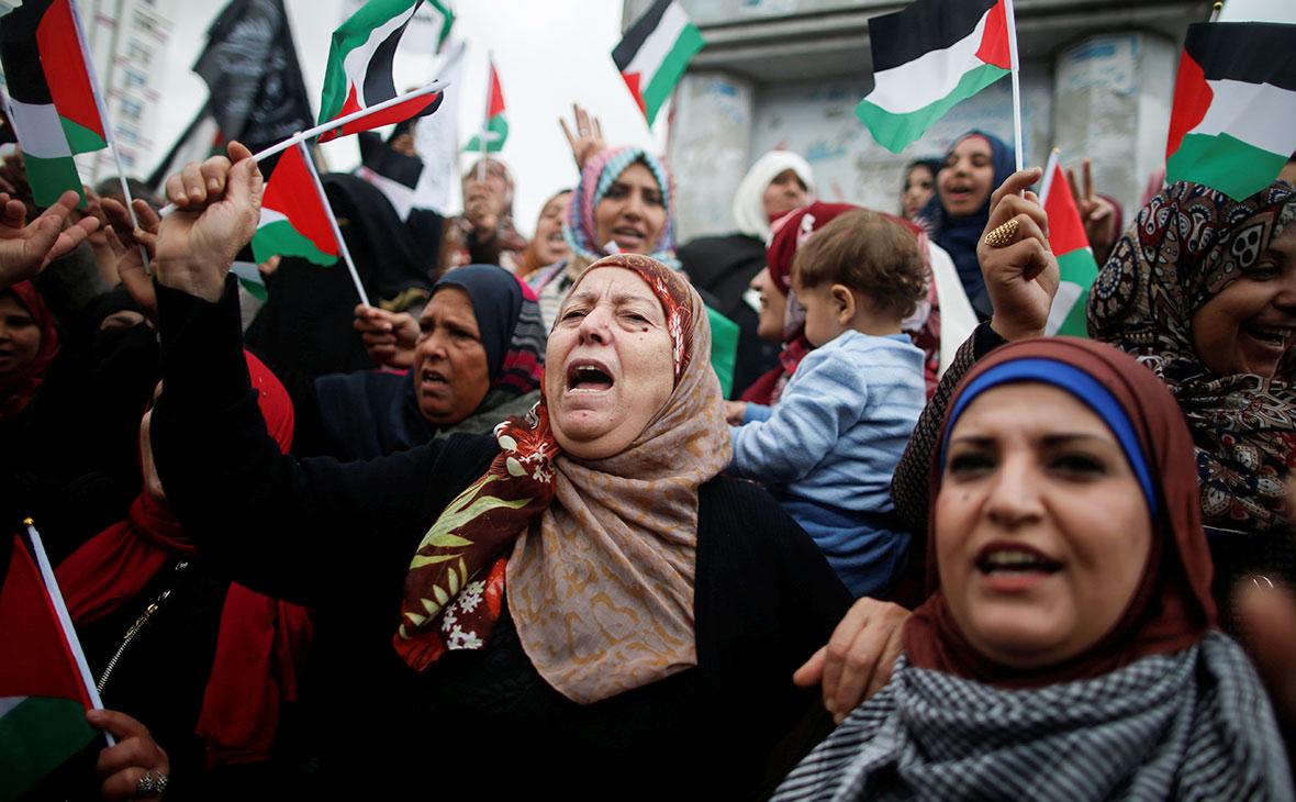 Протесты на палестинских территориях сектора Газа. 6 декабря 2017 года
