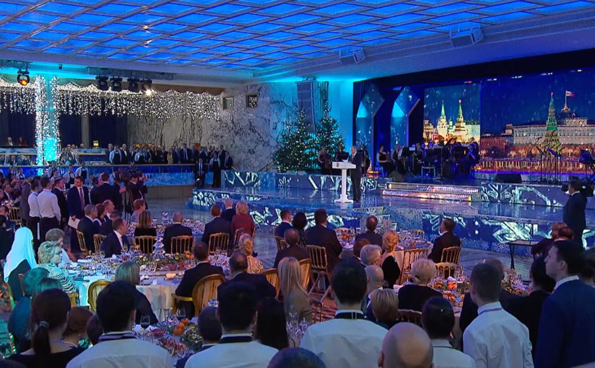 Новогодний прием в Кремле, 2017 год