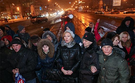 Участники акции протеста валютных заемщиков. 27 января 2016 года