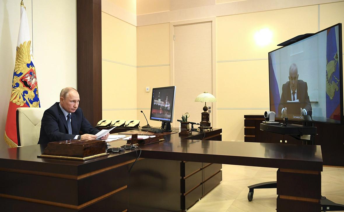 Рабочая встреча Владимира Путина и Сергея Ситникова