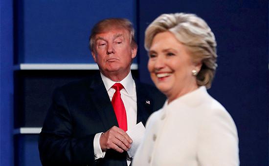 Кандидаты в президенты СШАДональд Трамп иХиллариКлинтон