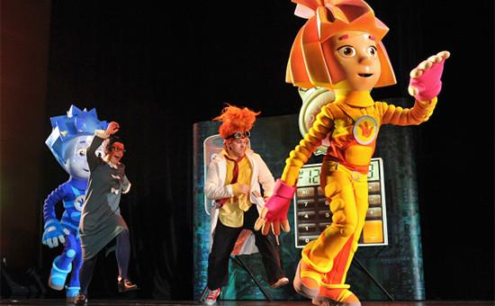 Предпремьерный показ детского музыкального интерактивного представления «Фикси-шоу» помотивам популярного мультсериала «Фиксики». 2012 год