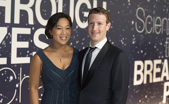 Основатель Facebook Марк Цукерберг на научной премии The Breakthrough Prize