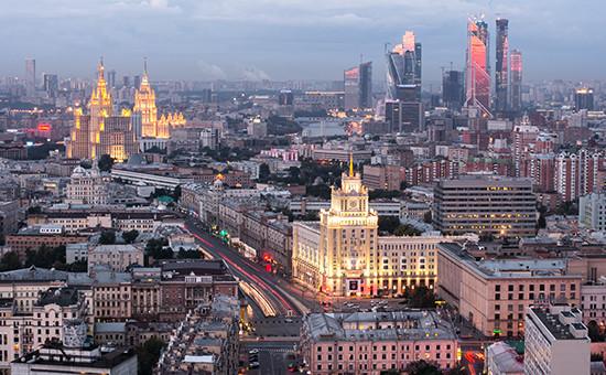 Москва. Вид на город. 2014 год