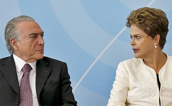 Вице-президент Бразилии Мишел Темери президент Бразилии Дилма Руссефф