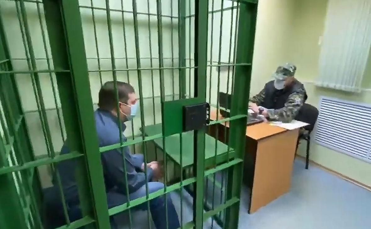 Вячеслав Старостин во время допроса