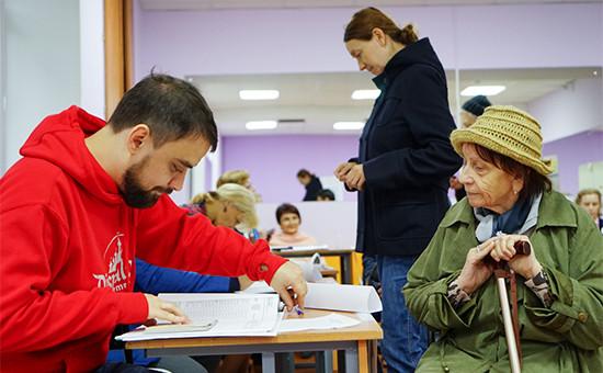 Голосование наодном изизбирательных участков Москвы