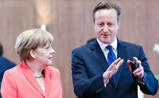 Канцлер Германии Ангела Меркельи премьер-министр Великобритании Дэвид Кэмерон  Архивное фото