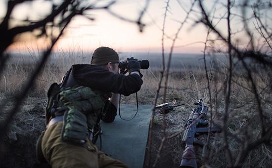 Донбасс, линия соприкосновения