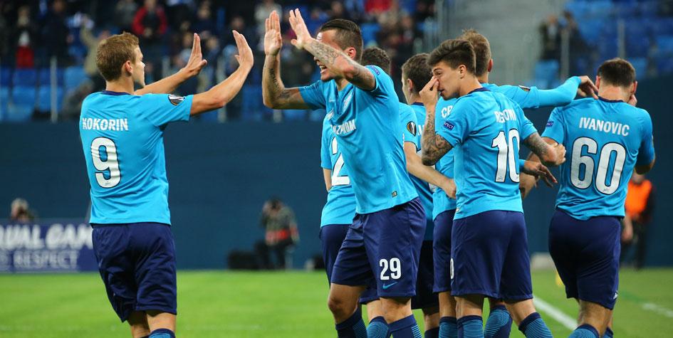 «Зенит» разгромил «Селтик» и вышел во второй раунд плей-офф Лиги Европы