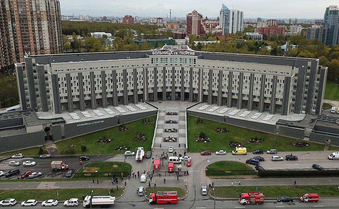 Вид на здание городской больницы Святого Георгия, Санкт-Петербург