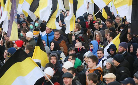 Участники акции «Русский марш», приуроченной коДню народного единства (архивное фото)