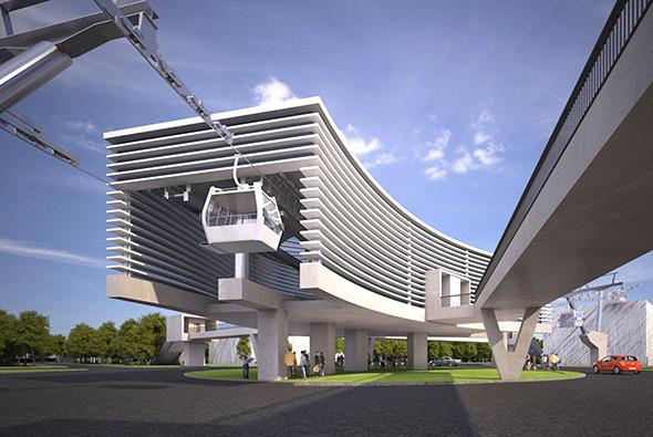 Проект станции канатного метро в Анкаре (Турция).
