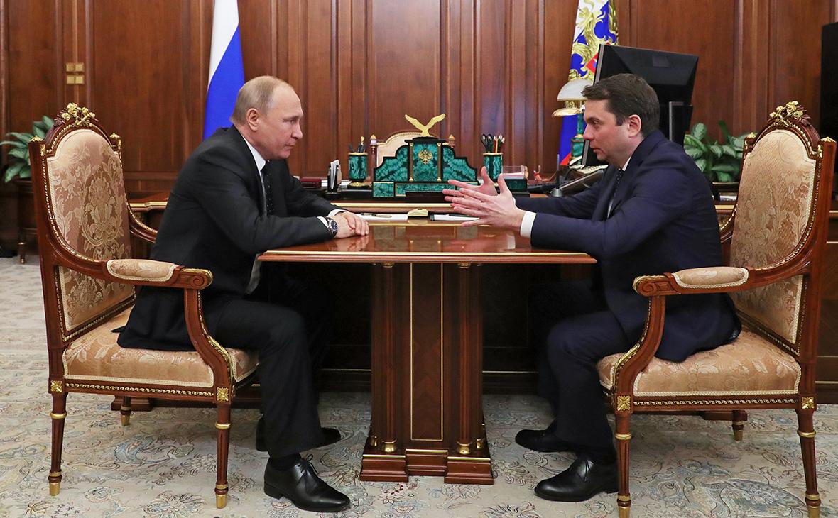 Владимир Путин и Андрей Чибис (слева направо)