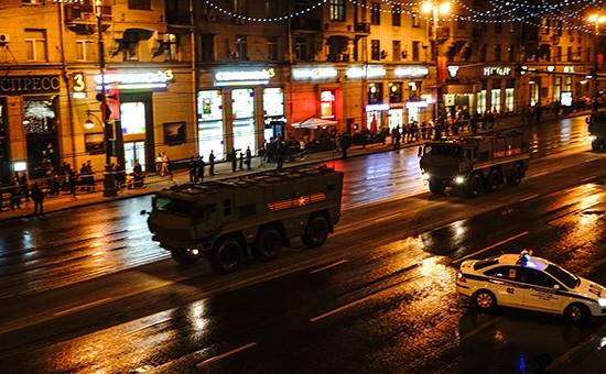 Проезд военной техники передрепетицией парада Победы вМоскве, 2015 год