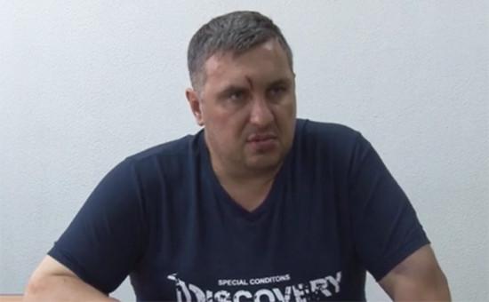 Во время допроса Евгения Панова—предполагаемого организатора терактов вКрыму