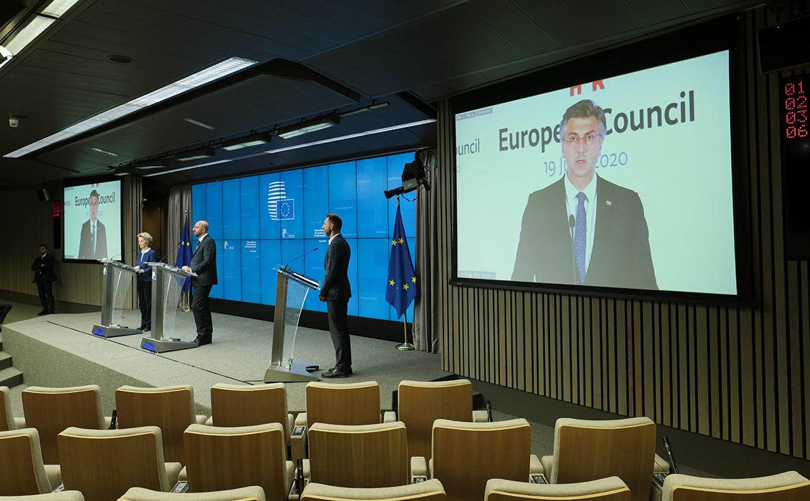 Пресс-конференции по итогам европейского саммита