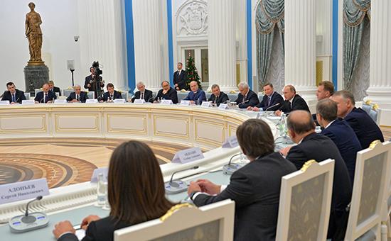 Встреча президента России Владимира Путина с представителями крупного бизнеса в Кремле