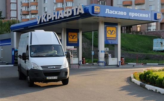 Заправочная станция «Укрнафты» вКиеве