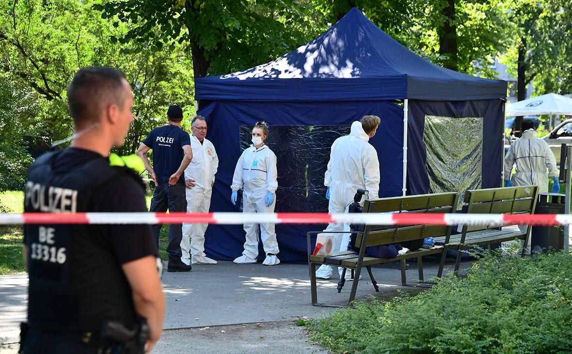 Сотрудники полиции на месте преступления в Берлине