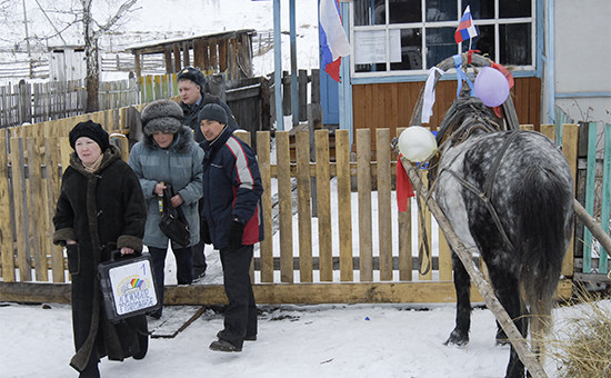 Избирательный участок вселе Большой Бор Таштыпского района Республики Хакасия
