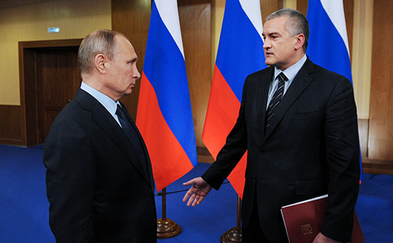 Президент России Владимир Путин и глава Крыма Сергей Аксеновво время рабочей поездки в Ярославль