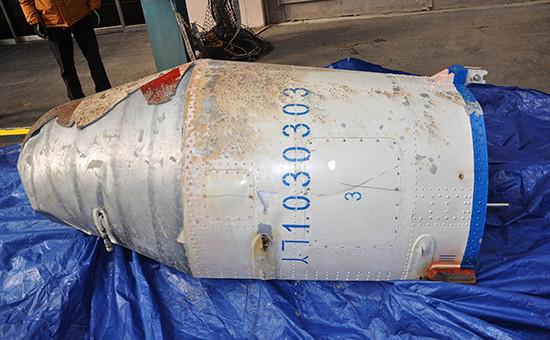 На фотографии объект, который Министерство обороны Южной Кореи считает частью северокорейского ракеты, запущенной 7 февраля 2016 года