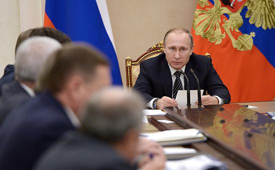 Президент России Владимир Путин навстрече вКремле сглавами основных нефтяных компаний России