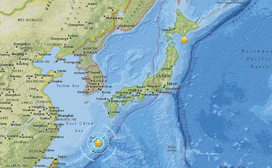 Скриншот интерактивной карты Геологической службы США (USGS)